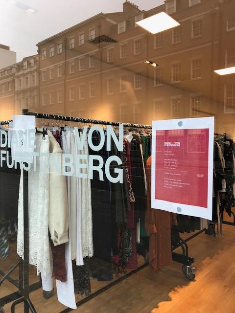 42cf947441 Entry  £2 for charity (Beauty Banks Charity). Tags Diane von Furstenberg  sample sale ...