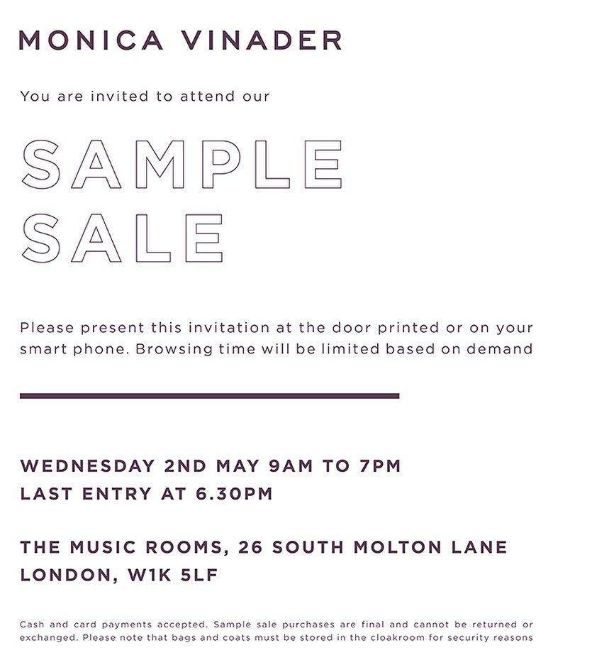 fe8f754740 The May London Sample Sales Guide - Style Barista